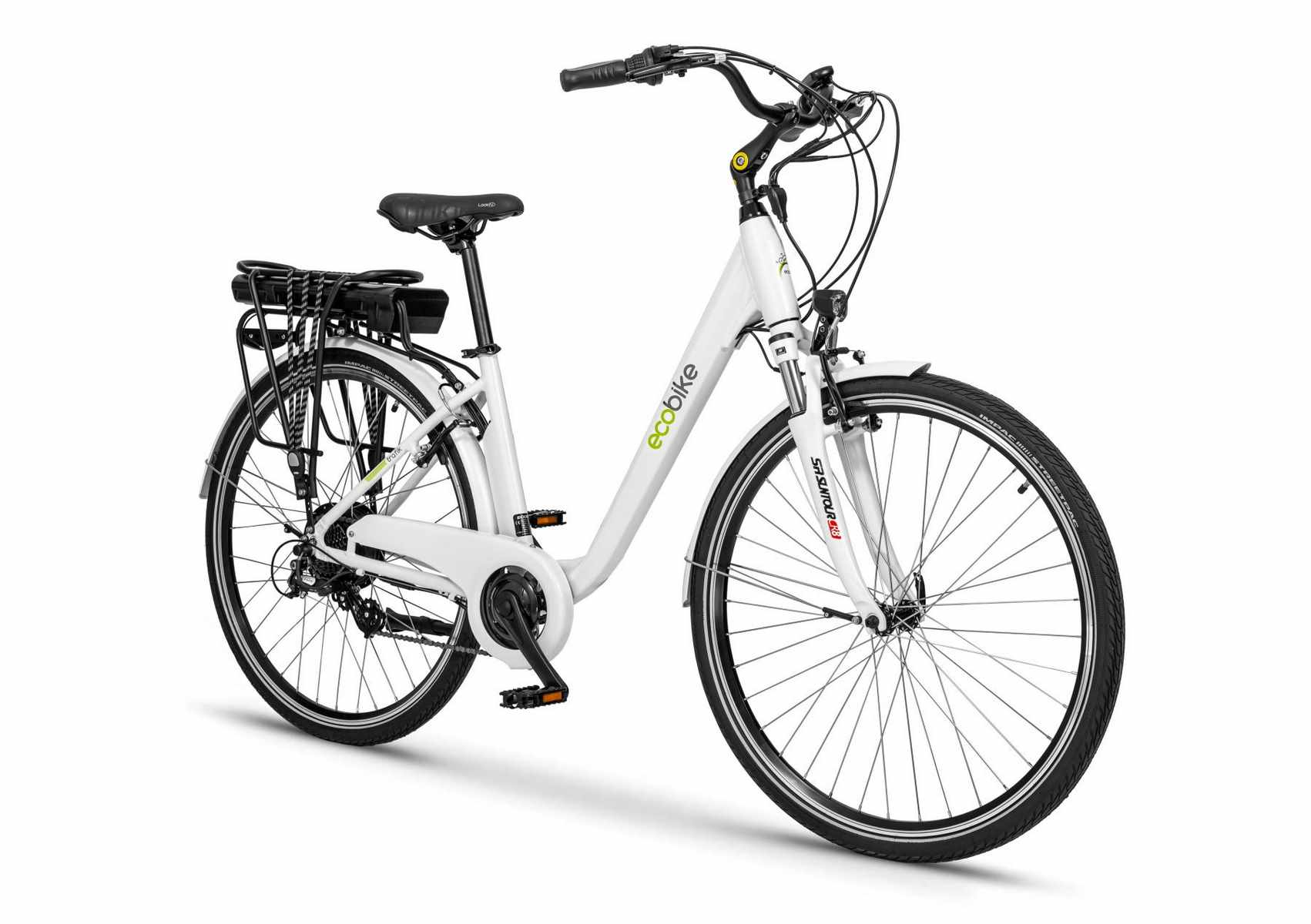 Damski rower elektryczny Ecobike trafic biały