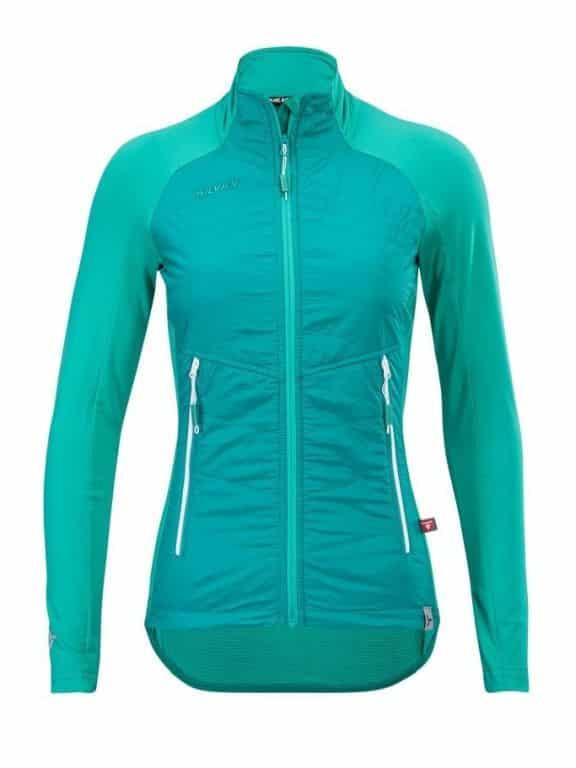 Damska bluza sportowa z wiatroodporna ocieplenie Primaloft, tył oddychający Silvini Sillaro kolor ocean