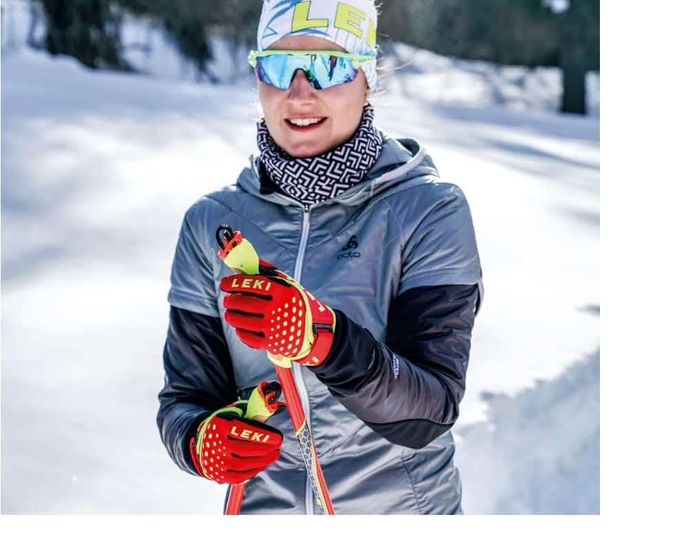 Leki rękawiczki na narty biegowe