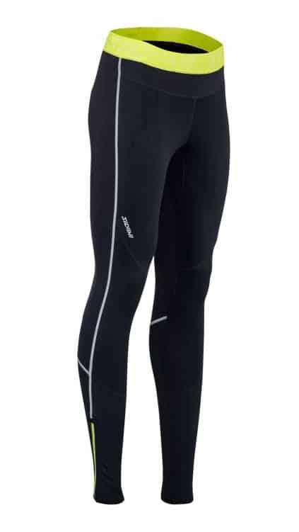 Damskie elastyczne spodnie na biegówki Silvini Movenza WP1742 czarno-żółte