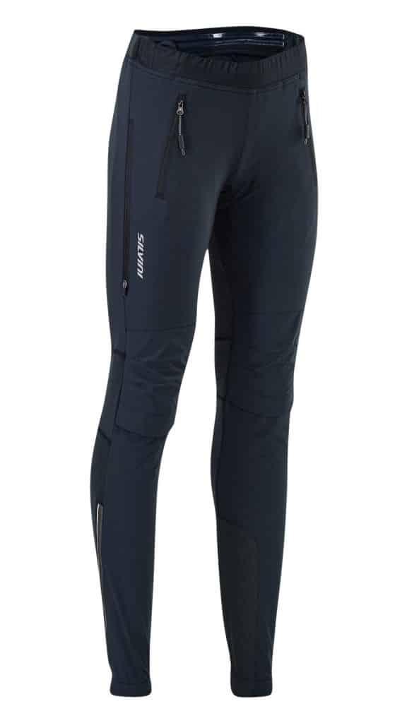 Damskie spodnie na narty biegowe Silvini Soracte nogawki rozsuwane do kolan WP1145 czarne