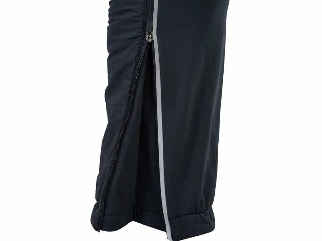 Spodnie z zamkiem błyskawicznym w nogawce