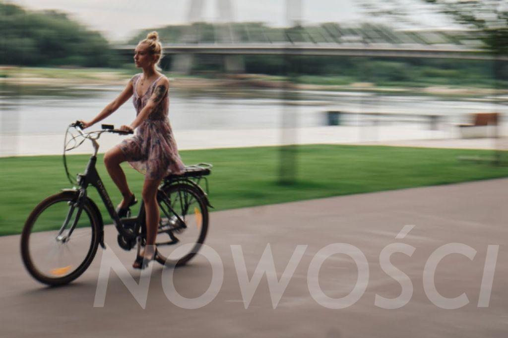 Rower miejski elektryczny Overfly Grace