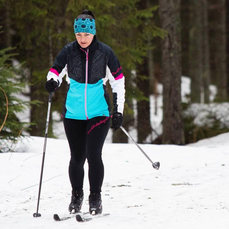 Elastyczne damskie spodnie na narty biegowe i skiturowe
