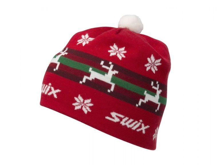 Czapka Swix Gunde styl retro wzór bożonarodzeniowy wełna 30%, akryl 70%, podszewka kod 46452-9990