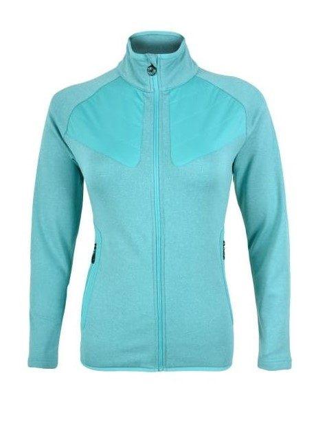 Bluza polarowa damska Silvini Cerrete PRO turkus kod WJ1147 3218-WJ1147-333