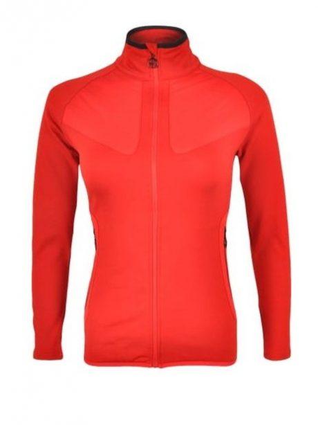 Bluza polarowa damska czerwona Silvin Cerrete