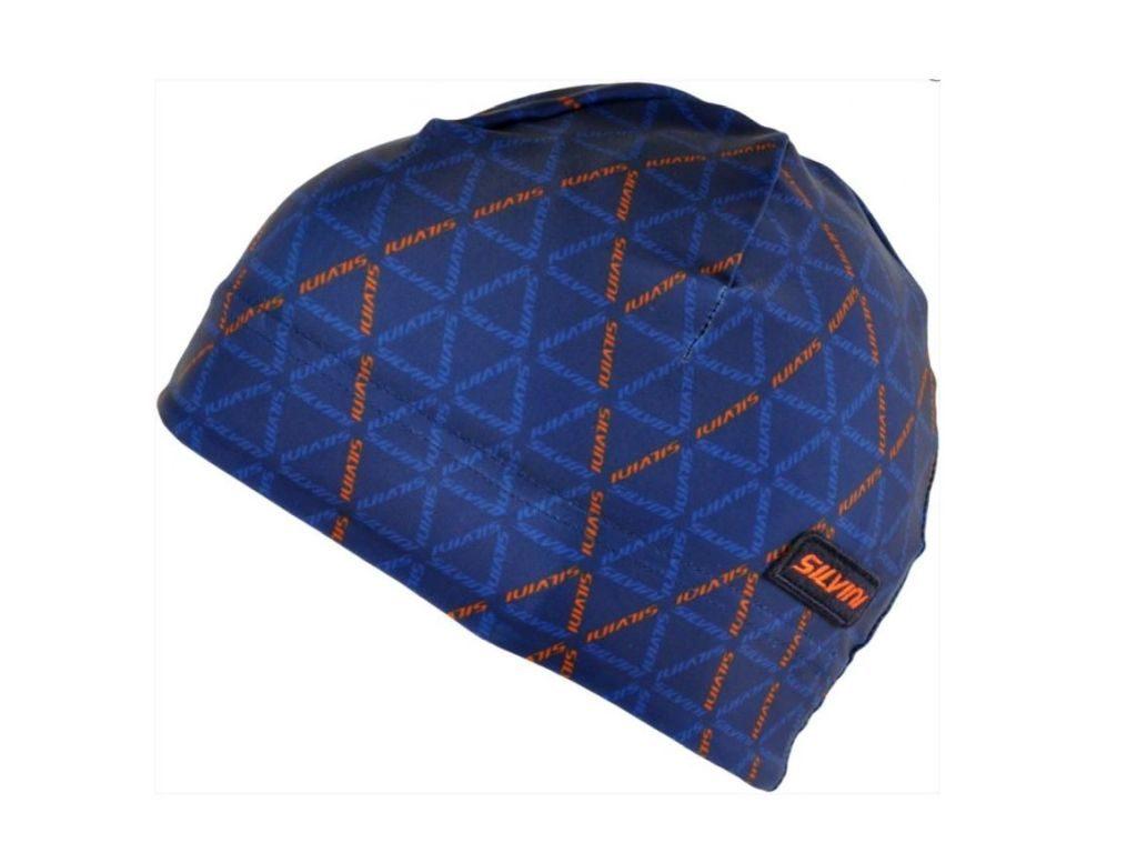 Cienka sportowa czapka na narty biegowe Silvini Averau UA 1128, granatowo-pomarańczowa