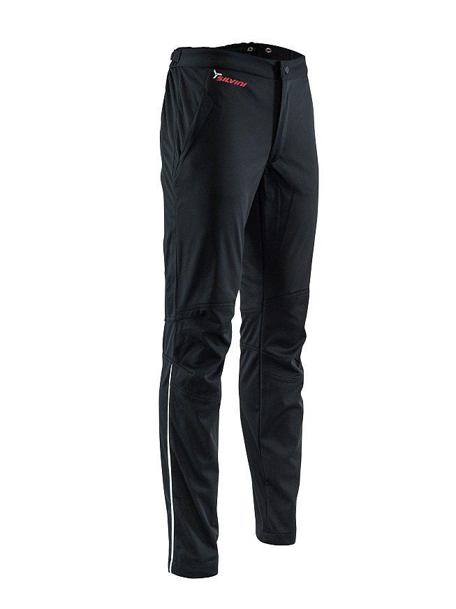 Damskie spodnie na biegówki, softshell z wewnętrzną strukturą włókien bambusa Silvini Mia czarne