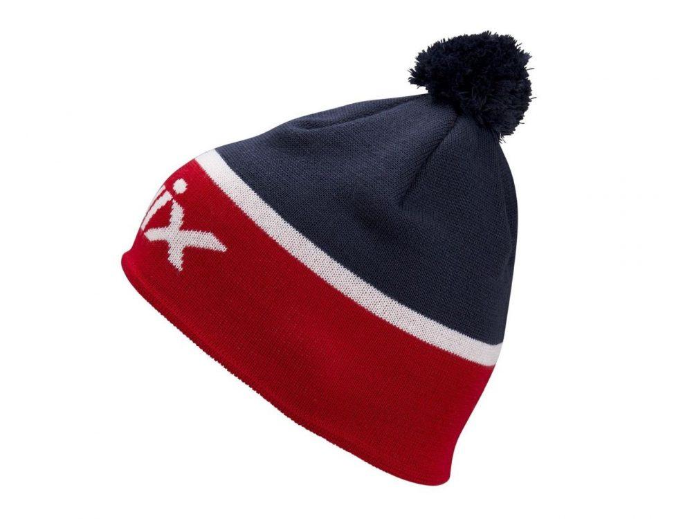 Klasyczna czapka na narty biegowe Swix Surmont, wzór norweski, z wełny merynosów, kod 46644-90900