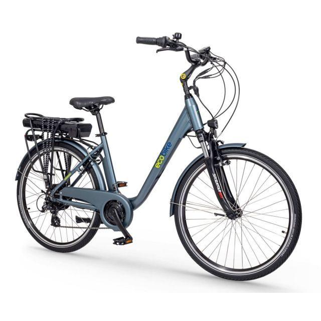 Rower elektrczny Ecobike Trafic niebieski
