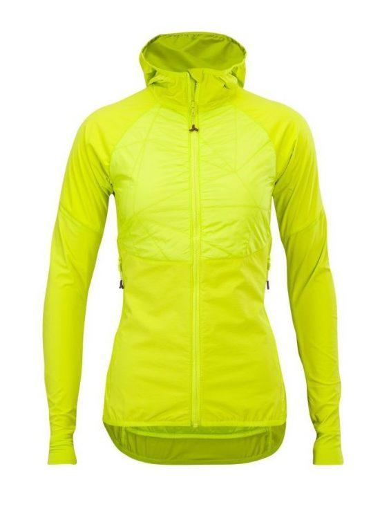 Lekka damska kurtka elastyczna do aktywnego biegu na nartach i na skitury, Silvini Asprino, kolor cytrynowy