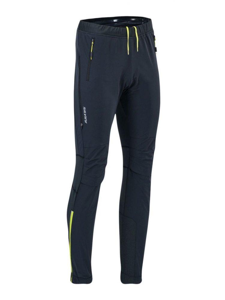 Damskie spodnie na narty biegowe, bieganie, skituring Silvini Soracte czarno-żółte